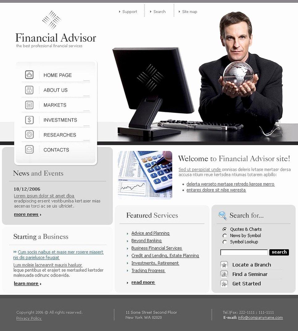 Financial Advisor Website Template Luxury Financial Advisor Website Template
