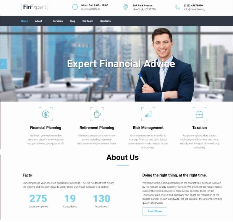 Financial Advisor Website Template New 17 Best Financial Advisor Website Templates