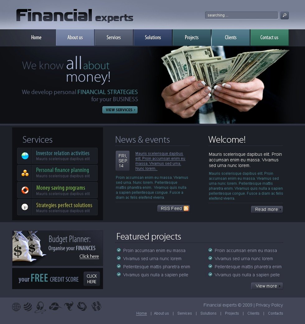 Financial Advisor Website Template New Financial Advisor Website Template