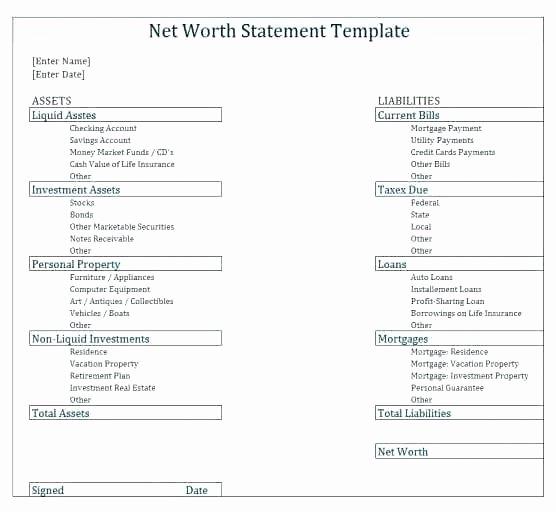 Financial Analysis Excel Template Best Of Net Worth Worksheet Excel Kidz Activities
