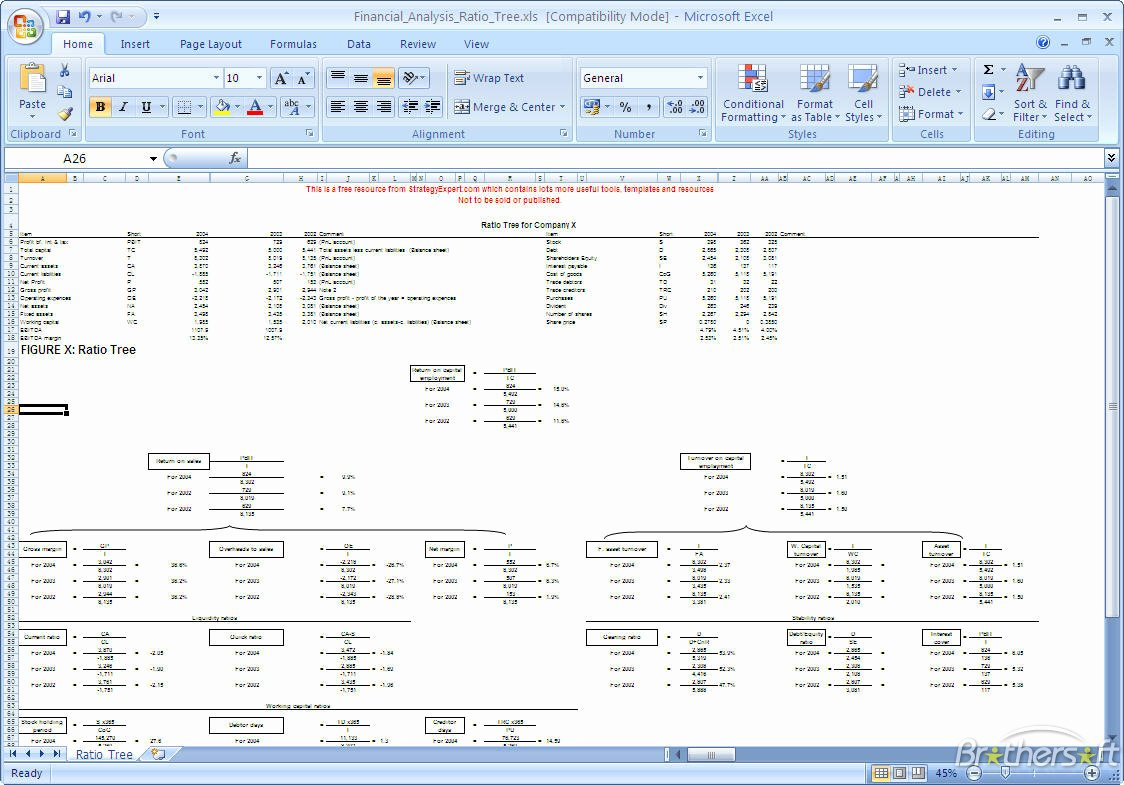 Financial Analysis Excel Template Fresh Family Tree Template Excel