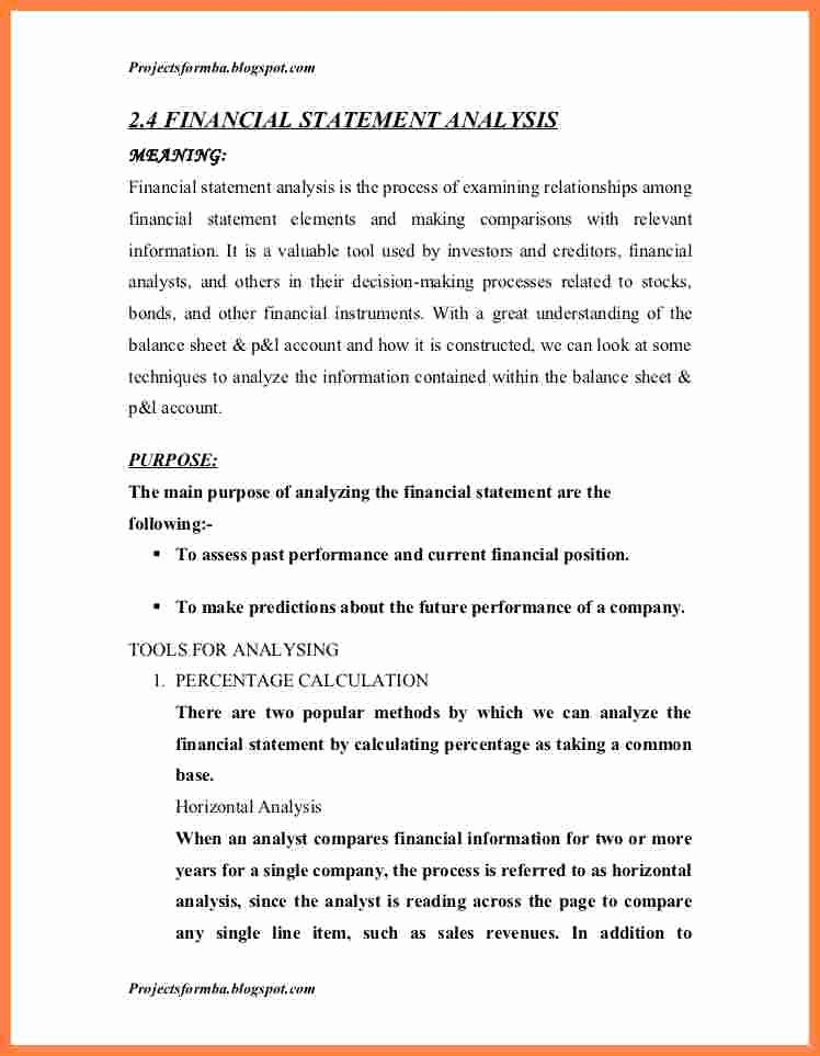 Financial Analysis Report Template Best Of 9 Sample Financial Analysis Report Template