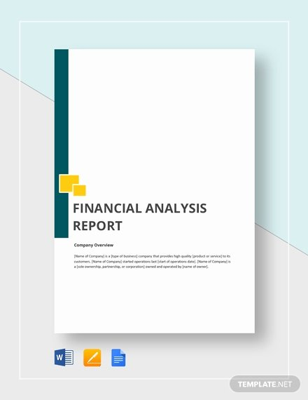 Financial Analysis Report Template Elegant 28 Sample Financial Report Templates Word Apple Pages
