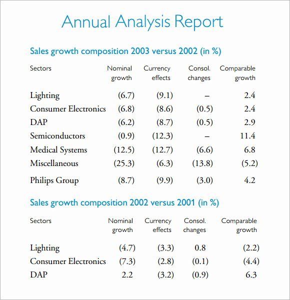 Financial Analysis Report Template New Analysis Report Template 7 Free Download for Pdf