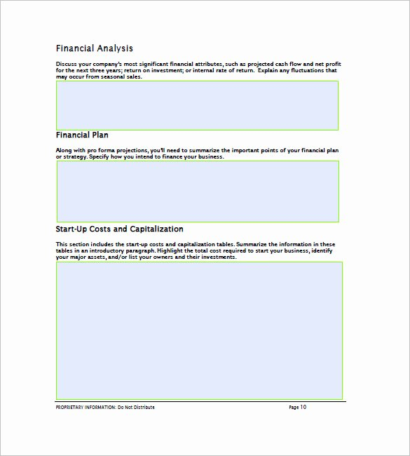 Financial Business Plan Template Elegant Financial Business Plan Template 14 Word Excel Pdf