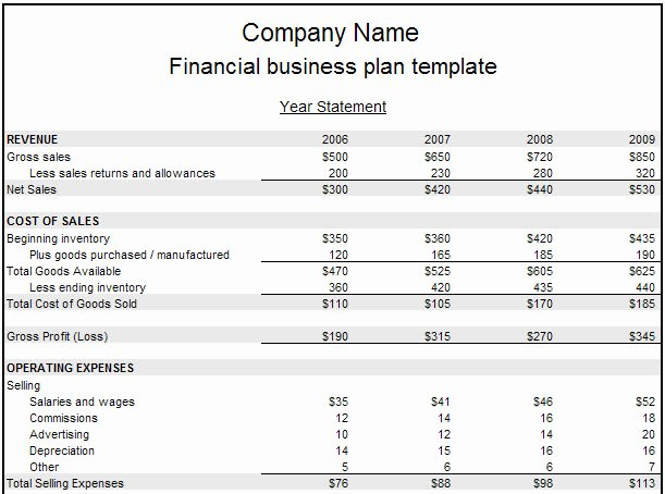 Financial Business Plan Template Elegant Financial Plan Business Reportz515 Web Fc2