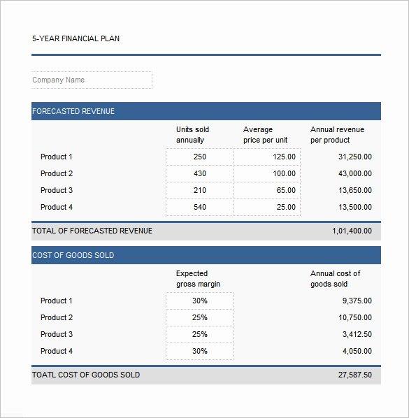 Financial Plan Template Free Elegant Financial Plan Templates 11 Word Excel Pdf Documents