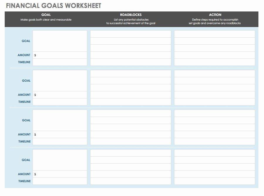Financial Plan Template Free New Ic Financial Goals Worksheet Template Financial Planning