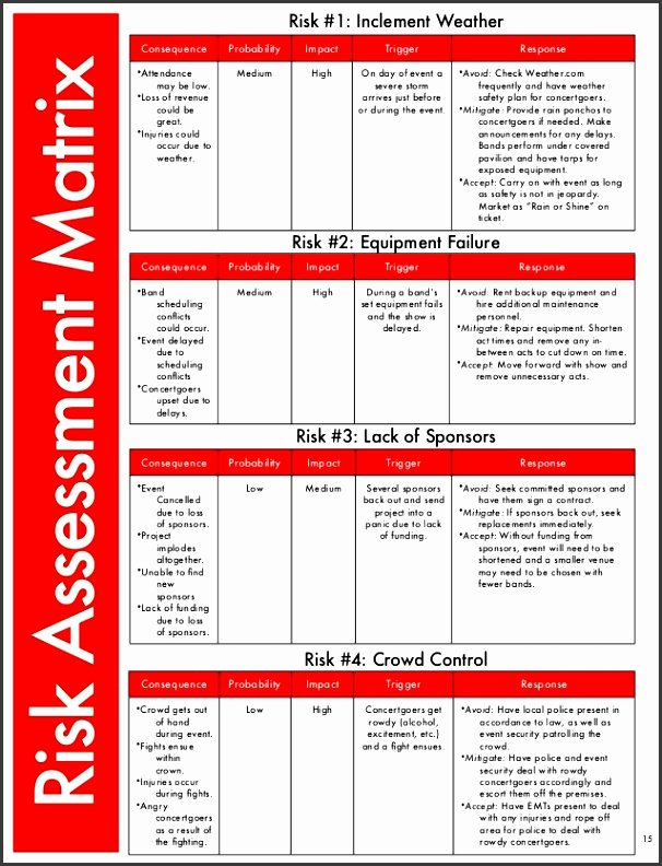 Financial Risk assessment Template New 9 Risk assessment Matrix Template Excel Sampletemplatess