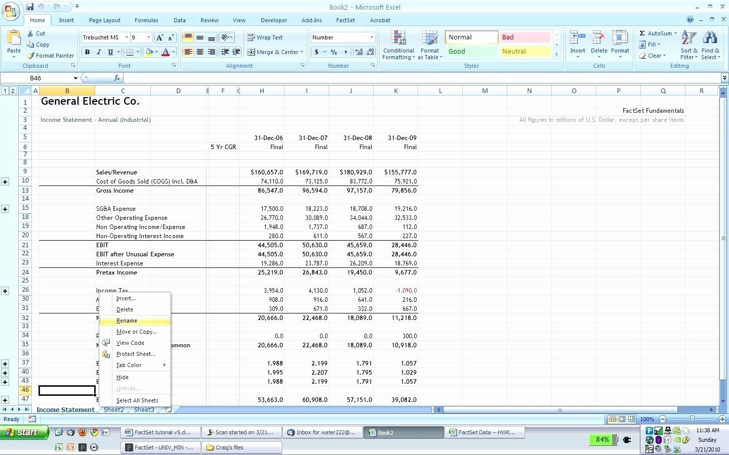 Financial Statements Excel Template Fresh Template Excel Template Financial Statement