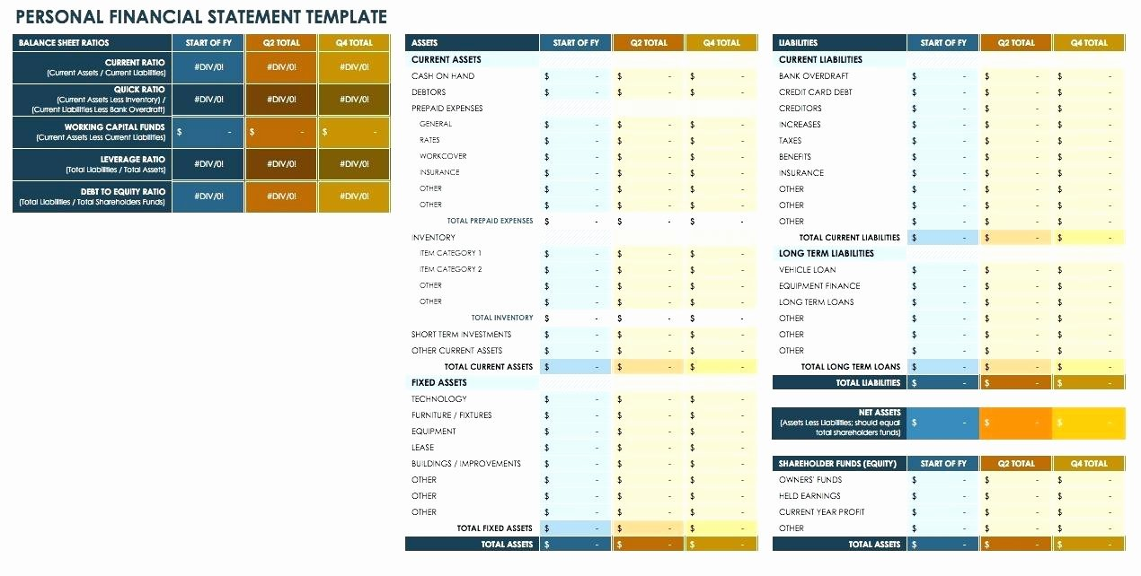 Financial Statements Excel Template Inspirational Template Financial Statements Template for Excel