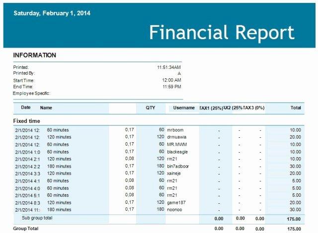 Financial Statements Excel Template Unique 5 Financial Report Templates Excel Pdf formats