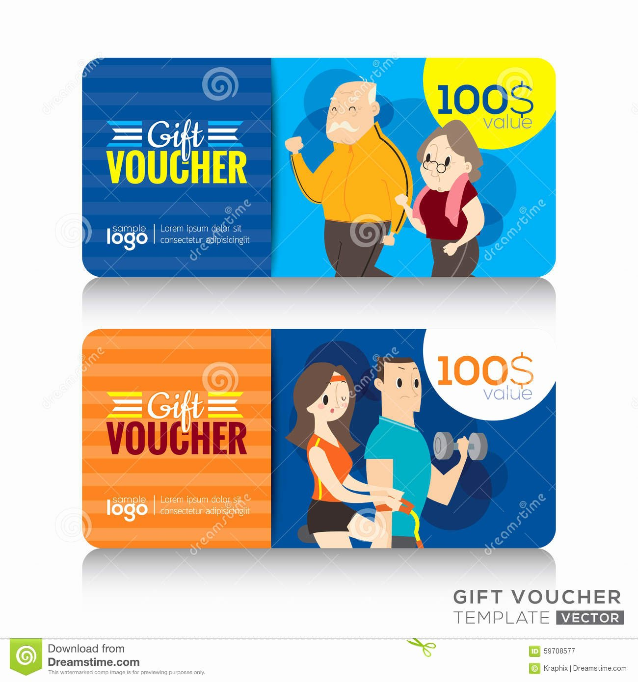 Fitness Gift Certificate Template Awesome Fitness Center Gym Coupon Voucher Gift Card Design