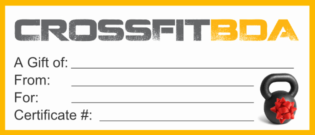 Fitness Gift Certificate Template Beautiful Crossfit Gift Certificate Template Estudiocheirodeflor