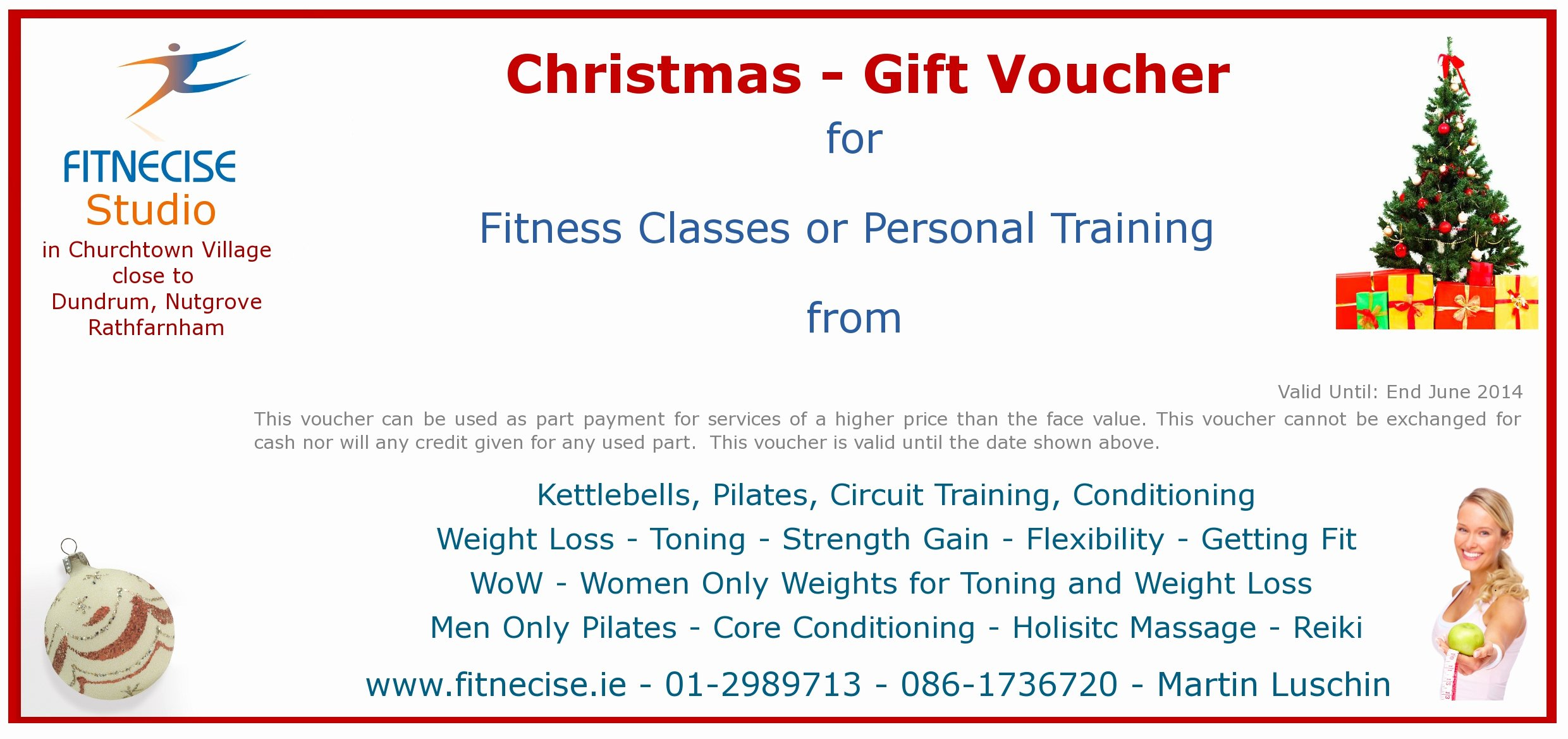 Fitness Gift Certificate Template Elegant Christmas – Gift Vouchers Available In south Dublin