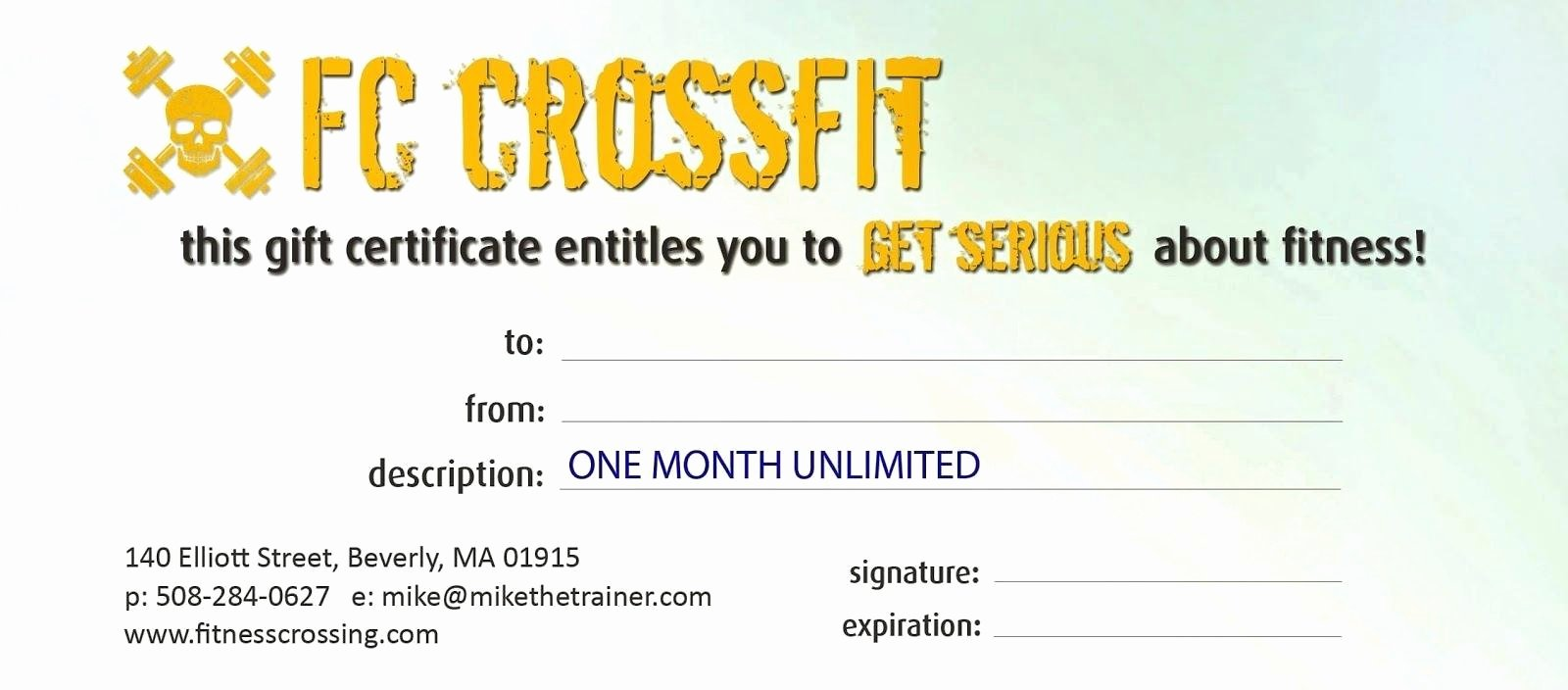 Fitness Gift Certificate Template Inspirational Fitness Gift Certificate Template Image – Gym Fitness