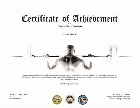 Fitness Gift Certificate Template Lovely 36 Fabulous Achievement Certificate Templates Word Psd