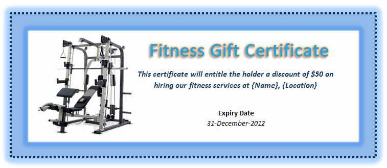 Fitness Gift Certificate Template Lovely Anytime Fitness Gift Certificate Template Feedscast