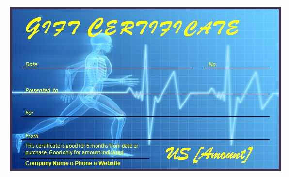 Fitness Gift Certificate Template Lovely Free Fitness Gift Certificate Template