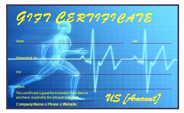 Fitness Gift Certificate Template New Fitness Training Certificate Template Gift Word Templates
