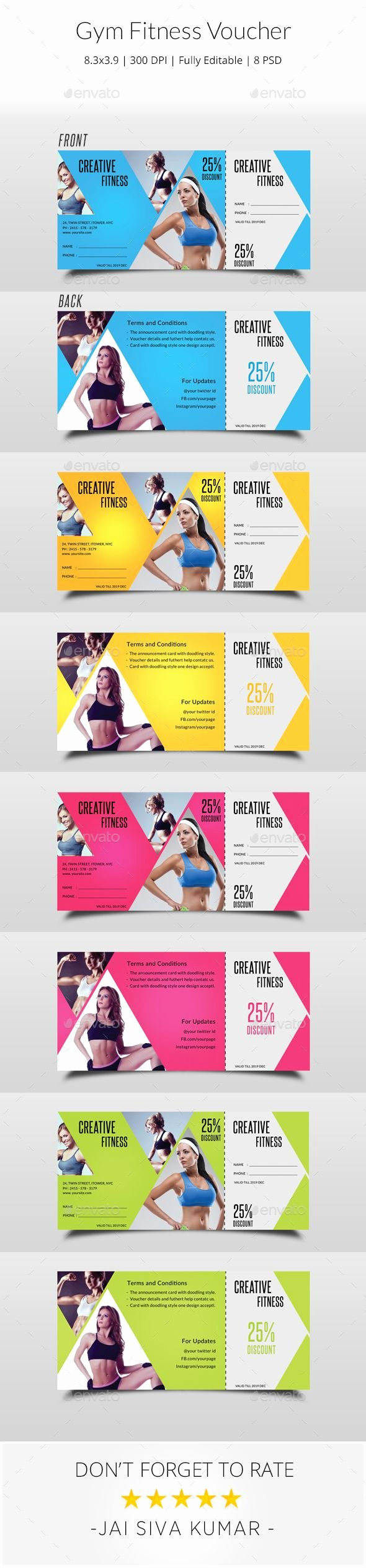 Fitness Gift Certificate Template New Pin by Best Graphic Design On Gift Voucher Templates