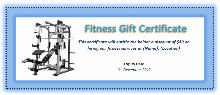 Fitness Gift Certificate Template New Pin by Mk Farooq On Certificate Designs