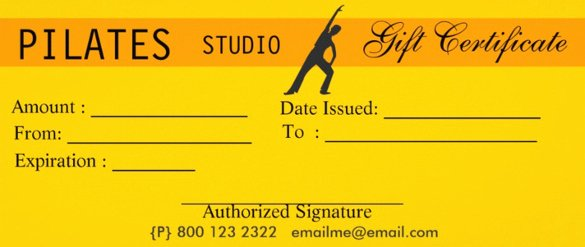 Fitness Gift Certificate Template Unique 3 Fitness Gift Certificate Templates – Free Sample