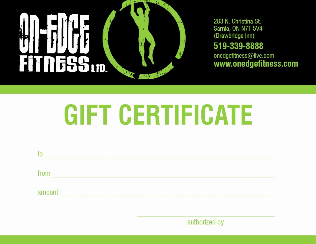 Fitness Gift Certificate Template Unique Facilities