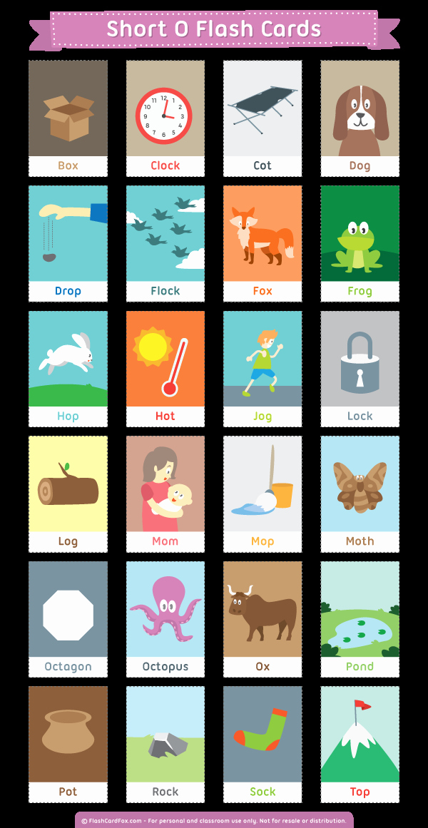 Flash Card Template Pdf Awesome Free Printable Short O Flash Cards Download them In Pdf