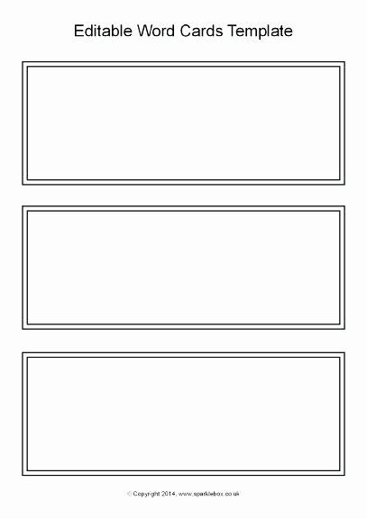 Flash Card Template Word Elegant Task Card Template Printable Blank Flash Word Microsoft