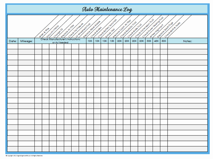 Fleet Vehicle Maintenance Log Template Awesome Vehicle Maintenance Spreadsheet