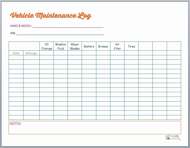 Fleet Vehicle Maintenance Log Template Best Of Best 20 Vehicle Maintenance Log Ideas On Pinterest