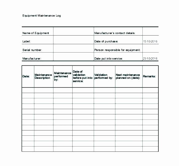 Fleet Vehicle Maintenance Log Template Inspirational Fleet Vehicle Maintenance Log Template – Listoflinks