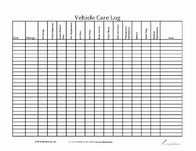 Fleet Vehicle Maintenance Log Template Lovely Maintenance Log Book Template Free – Flybymedia