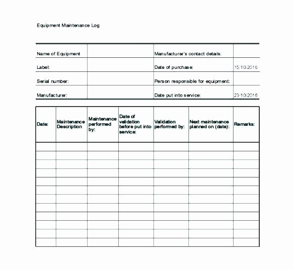 Fleet Vehicle Maintenance Log Template Unique Fleet Maintenance Schedule Template – Tefutefufo