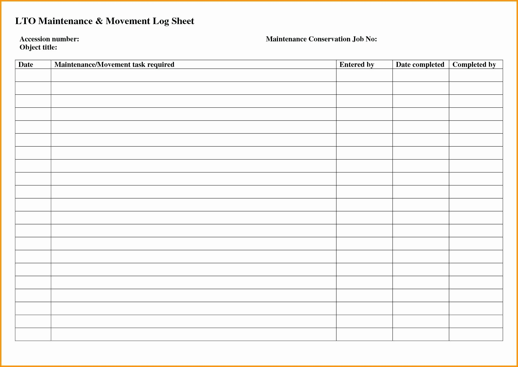 Fleet Vehicle Maintenance Log Template Unique Template Vehicle Fuel Log Template