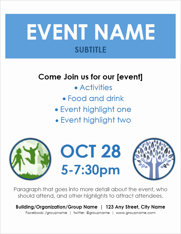 Flyer Template Free Word Awesome event Flyer Template for Word