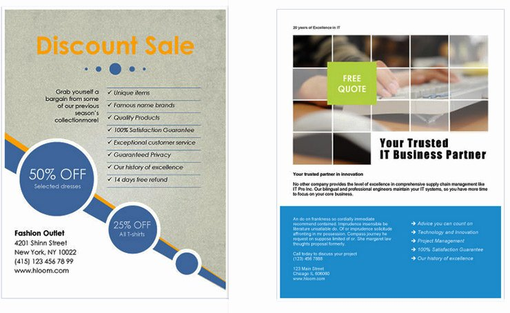 Flyer Template Free Word Best Of Free Business Flyer Templates for Microsoft Word Design A