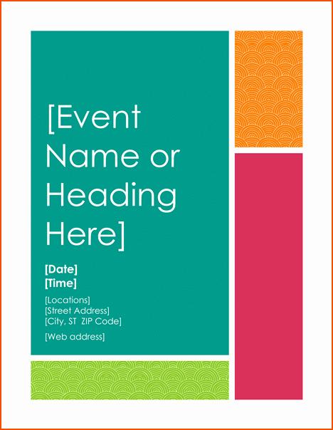 Flyer Template Free Word Elegant 6 Microsoft Word Flyer Templates Bookletemplate