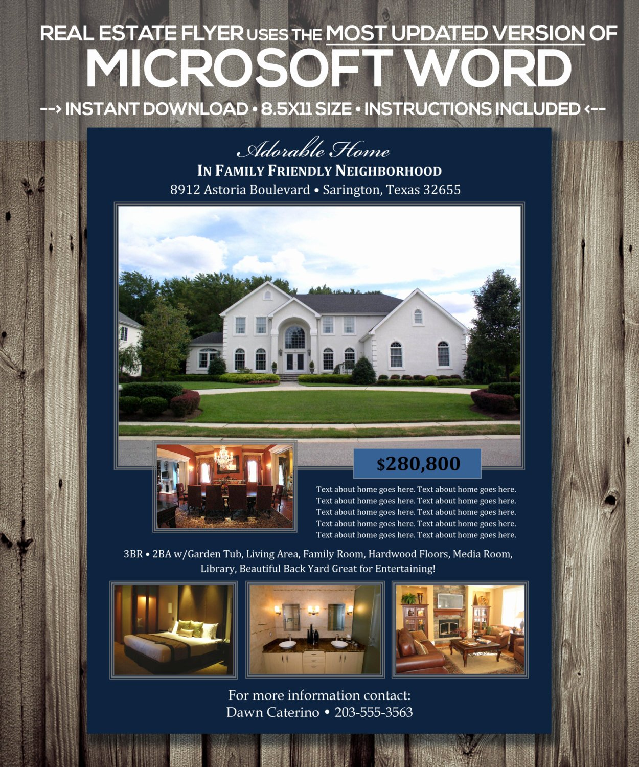 Flyer Template Free Word Luxury Real Estate Flyer Template Microsoft Word Cx Version