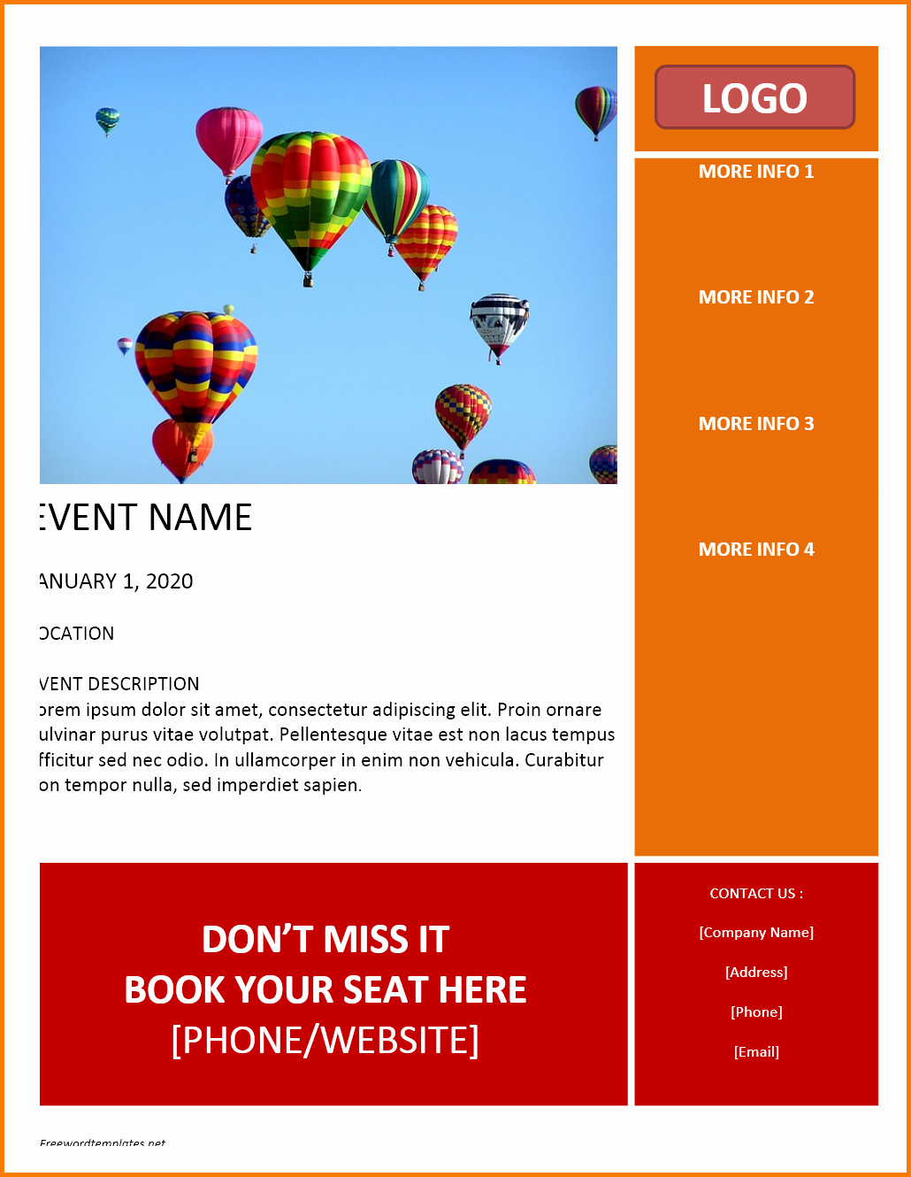 Flyer Template Free Word New event Flyer Templates Free