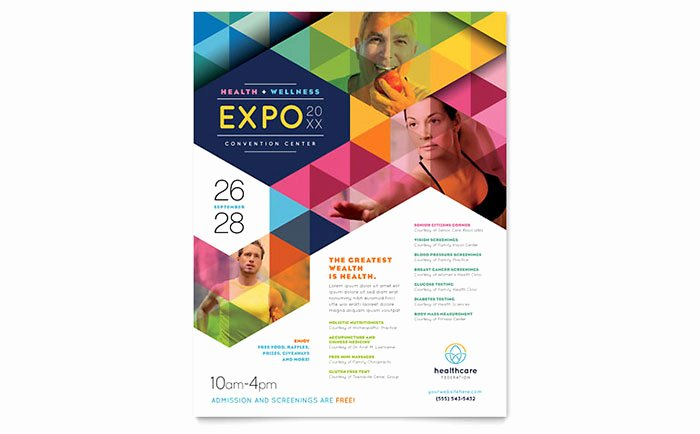 Flyer Template Free Word New Health Fair Flyer Template Word & Publisher