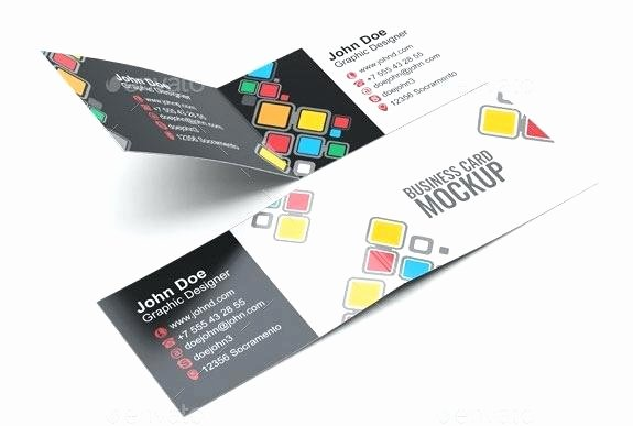 Foldable Business Card Template Awesome Folded Business Card Template Microsoft Folded Business