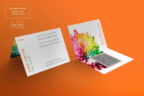Foldable Business Card Template Beautiful 21 Folded Business Cards Free & Premium Download