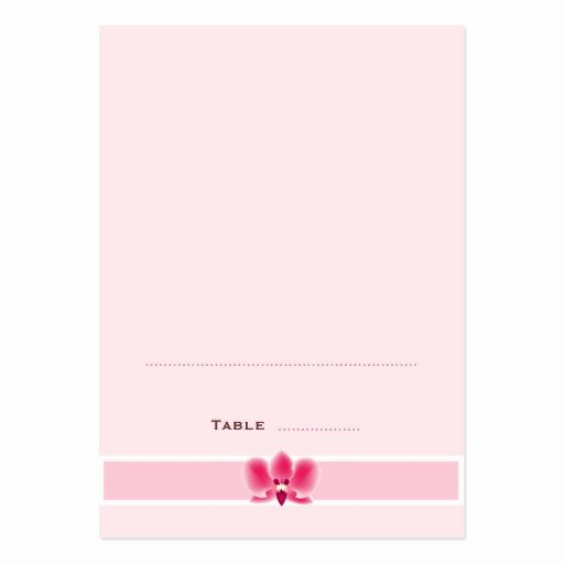 Foldable Business Card Template Beautiful Pink orchid Folded Place Cards Business Card Templates