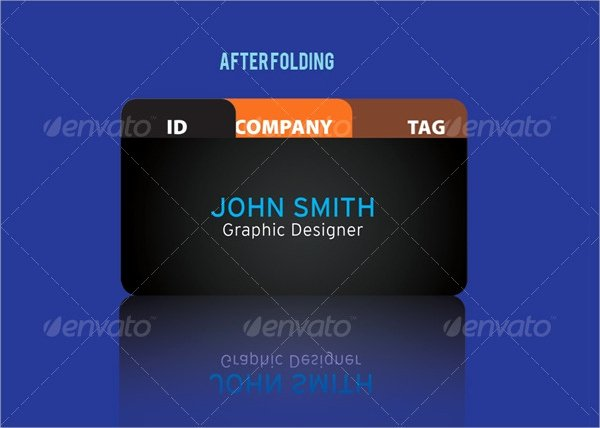 Foldable Business Card Template Inspirational 22 Folded Business Cards Psd Ai Vector Eps