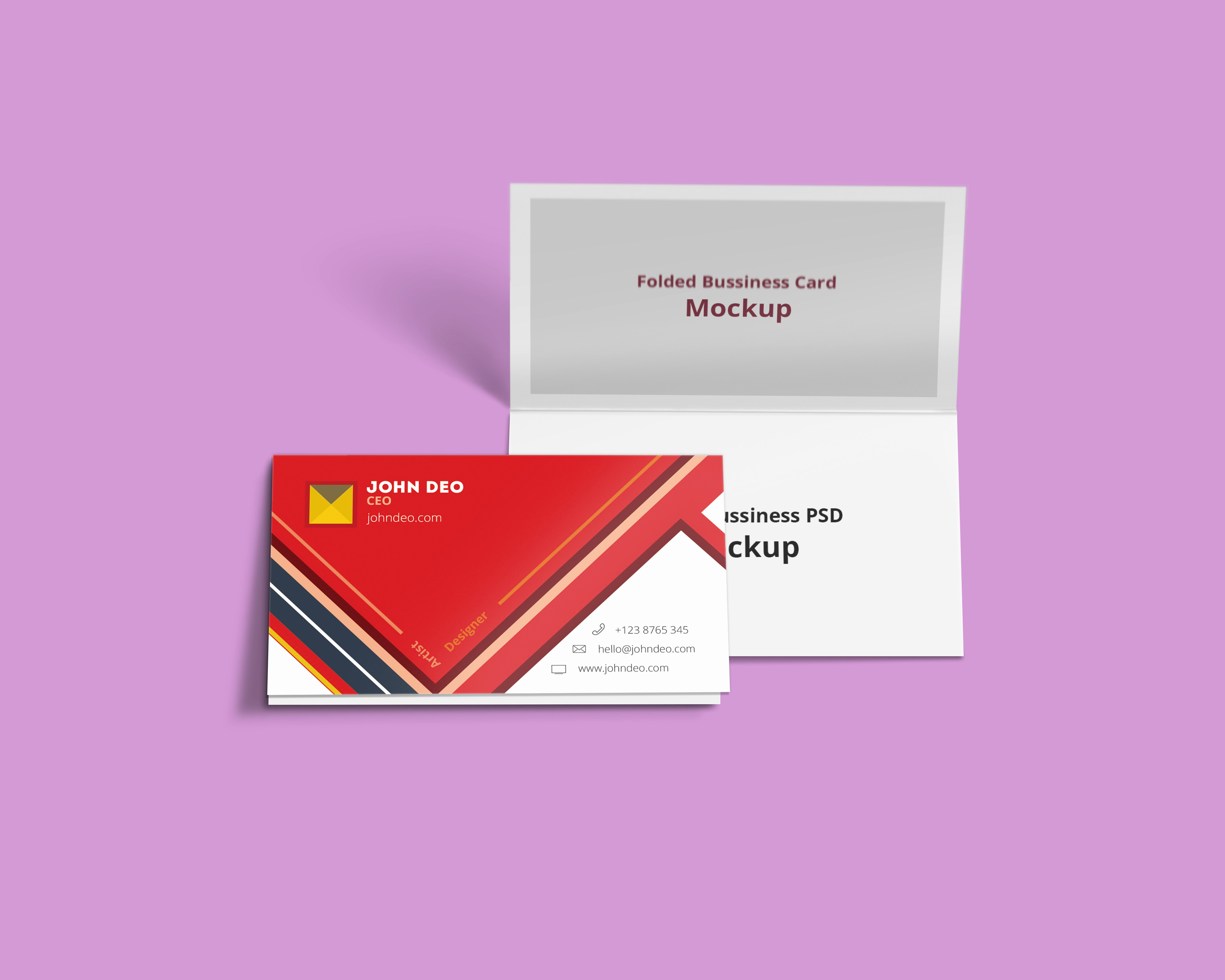 Foldable Business Card Template Inspirational Folded Business Card Psd Mockup Creativecrunk