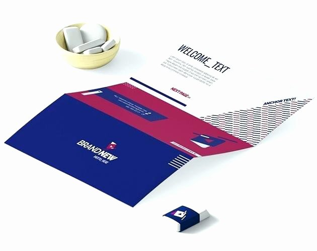 Folded Business Card Template Awesome Tri Folded Business Cards