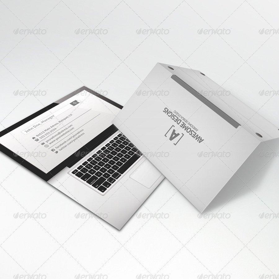 Folded Business Card Template Beautiful Mybook Pro Folded Business Card Template by Zeppelin