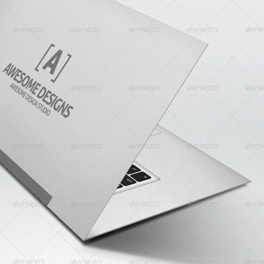 Folded Business Card Template Fresh Mybook Pro Folded Business Card Template by Zeppelin
